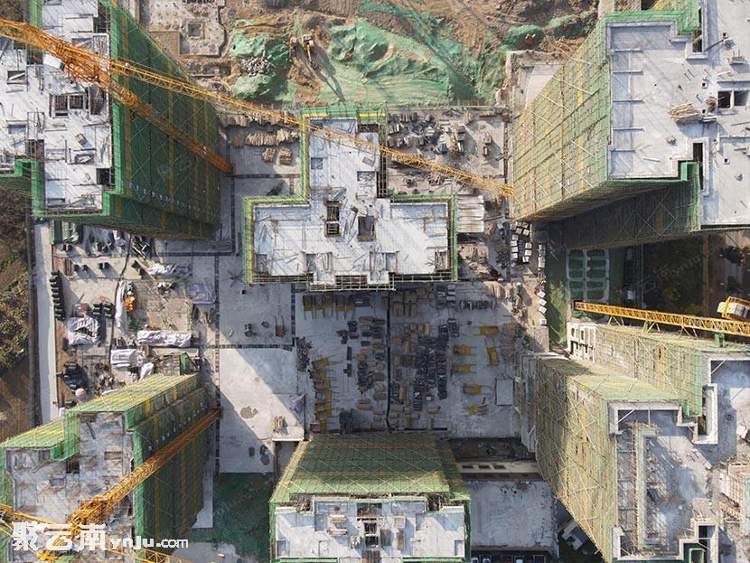 [航拍看房]2021年2月3日多图看蒙自阳光壹号院施工进度